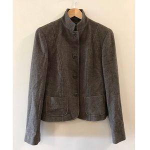 Weekend Max Mara Brown Wool Tweed Coat 12 Italy